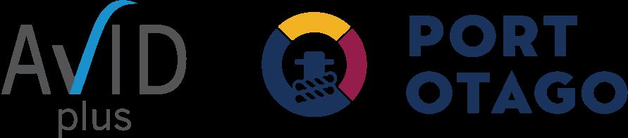 Avid Plus and Port Otago logos Logo